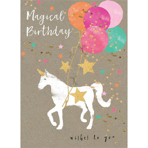 Magical Unicorn Birthday Greeting Card 6 pack