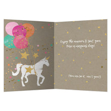 Load image into Gallery viewer, Magical Unicorn Birthday Greeting Card 6 pack