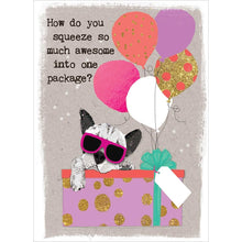 Load image into Gallery viewer, Awesome Package Birthday Greeting Card 6 pack