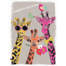 Load image into Gallery viewer, Proud Giraffes Congratulations Greeting Card 6 pack
