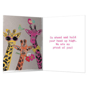 Proud Giraffes Congratulations Greeting Card 6 pack