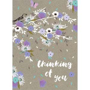 Thoughts And Flowers All Occasion Greeting Card 6 pack