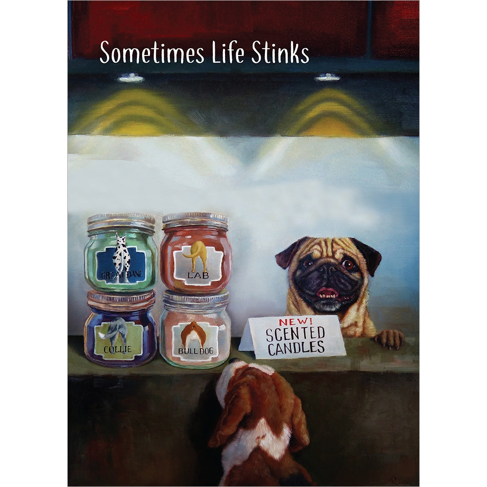 Life Stinks Support Greeting Card 6 pack