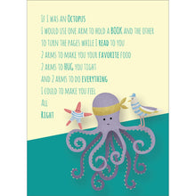 Load image into Gallery viewer, Octopus Wishes Get Well Greeting Card 6 pack