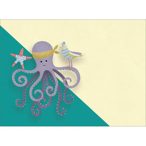 Octopus Wishes Get Well Greeting Card 6 pack