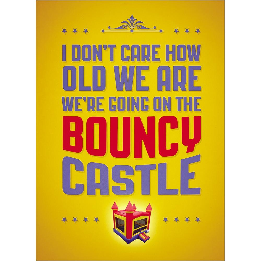 Bouncy Castle Birthday Greeting Card 6 pack