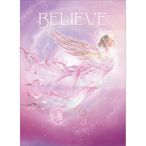 Believe Angel All Occasion Greeting Card 6 pack