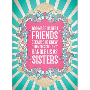 Soul Sisters Friendship Greeting Card 6 pack