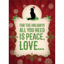 Load image into Gallery viewer, More Cats Christmas Christmas Greeting Card 4 pack