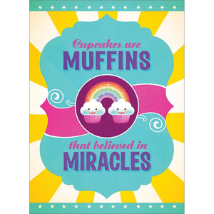 Cupcake Miracles Birthday Greeting Card 6 pack