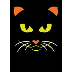 Load image into Gallery viewer, Graphic Halloween Cat Halloween Greeting Card 4 pack