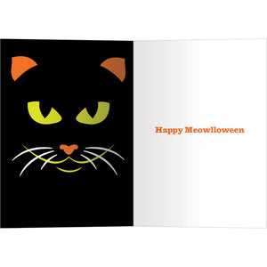 Graphic Halloween Cat Halloween Greeting Card 4 pack