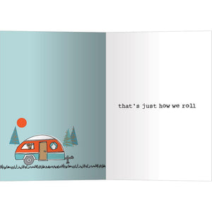 How We Roll Friendship Greeting Card 6 pack