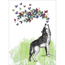 Load image into Gallery viewer, Howl With Joy Birthday Greeting Card 6 pack