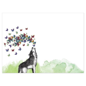 Howl With Joy Birthday Greeting Card 6 pack