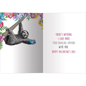 Let's Hang Valentine Valentine's Day Greeting Card 4 pack