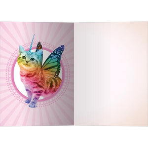 Rainbow Unicorn All Occasion Greeting Card 6 pack