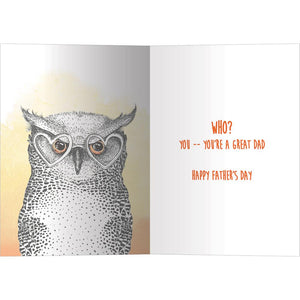 Watchful And Wise Father's Day Greeting Card 4 pack