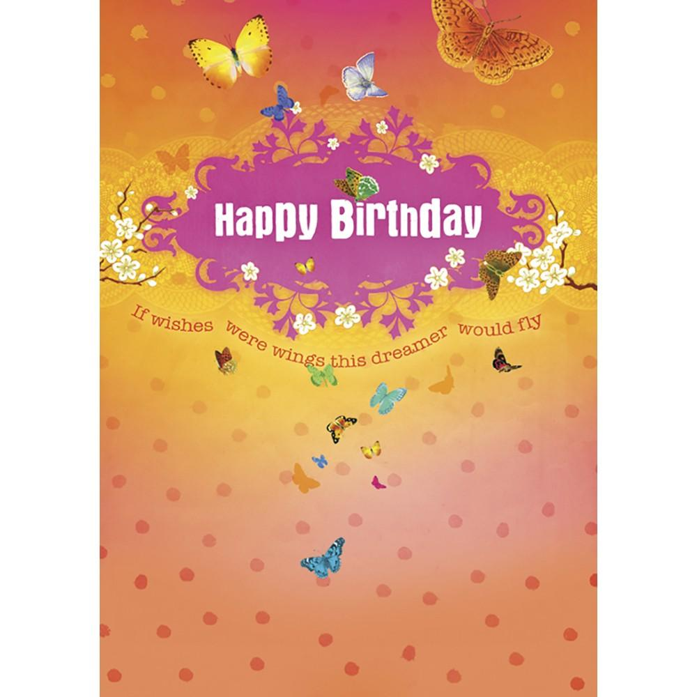 Birthday Butterflies Birthday Greeting Card 6 pack