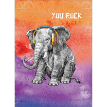 Load image into Gallery viewer, You Rock Elephant Birthday Greeting Card 6 pack
