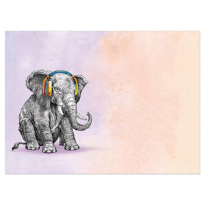 You Rock Elephant Birthday Greeting Card 6 pack