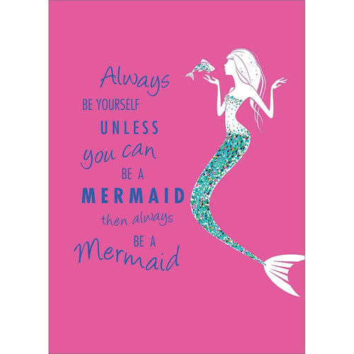 Send This Be A Mermaid On Pink All Occasion Card