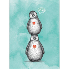 Load image into Gallery viewer, Penguin Pile Thinking of You Greeting Card 6 pack