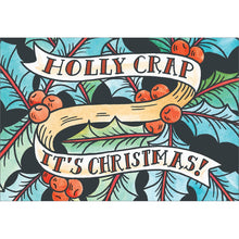 Load image into Gallery viewer, Holly Crap Christmas Greeting Card 4 pack