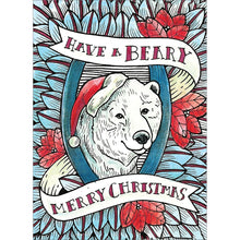 Load image into Gallery viewer, Beary Merry Christmas Christmas Greeting Card 4 pack