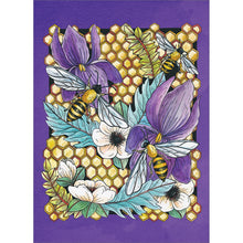 Load image into Gallery viewer, Elegant Honey Bees All Occasion Greeting Card 6 pack