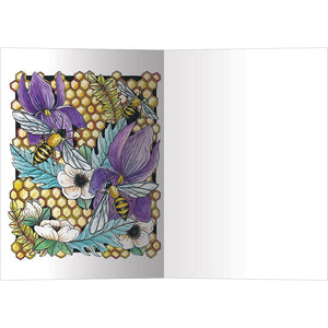 Elegant Honey Bees All Occasion Greeting Card 6 pack