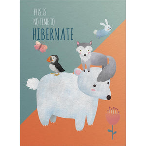 No Time To Hibernate Birthday Greeting Card 6 pack