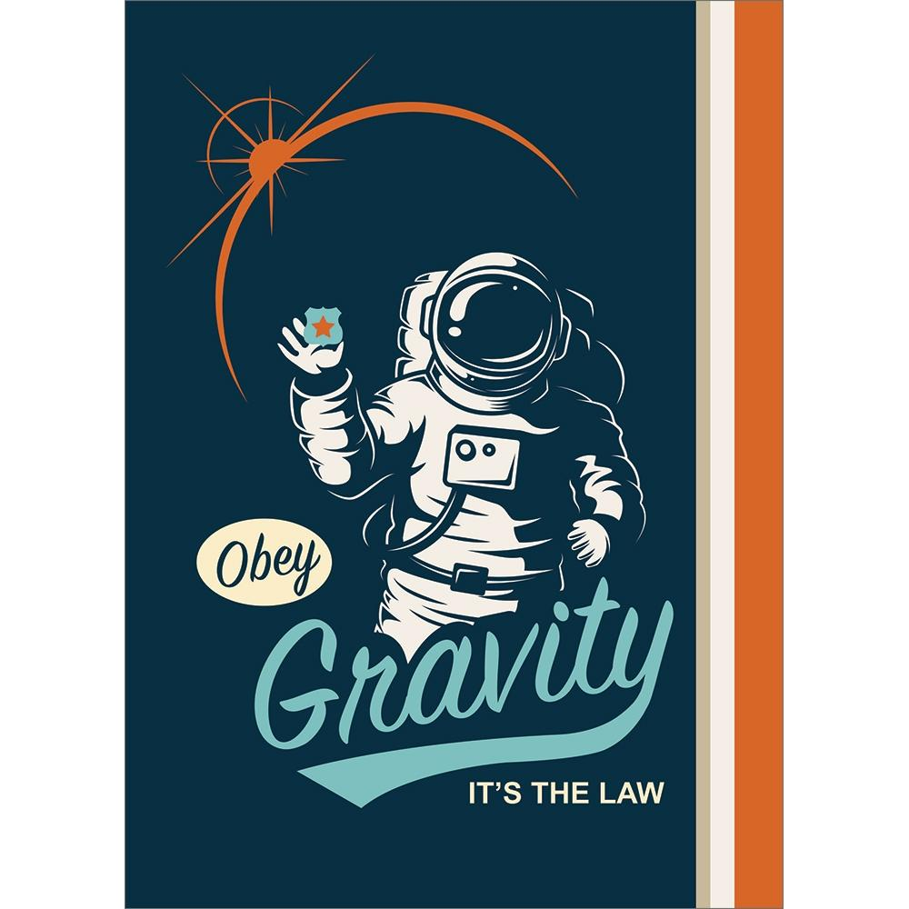 Obey Gravity Birthday Greeting Card 6 pack