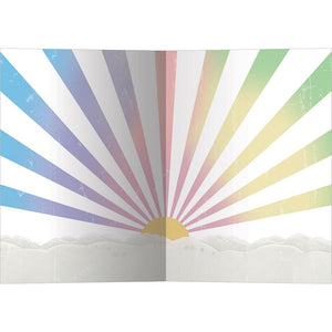 Rainbow Ninja Encouragement Greeting Card 6 pack