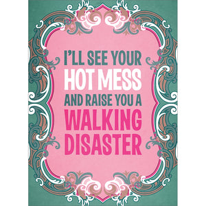 Hot Mess Support Greeting Card 6 pack