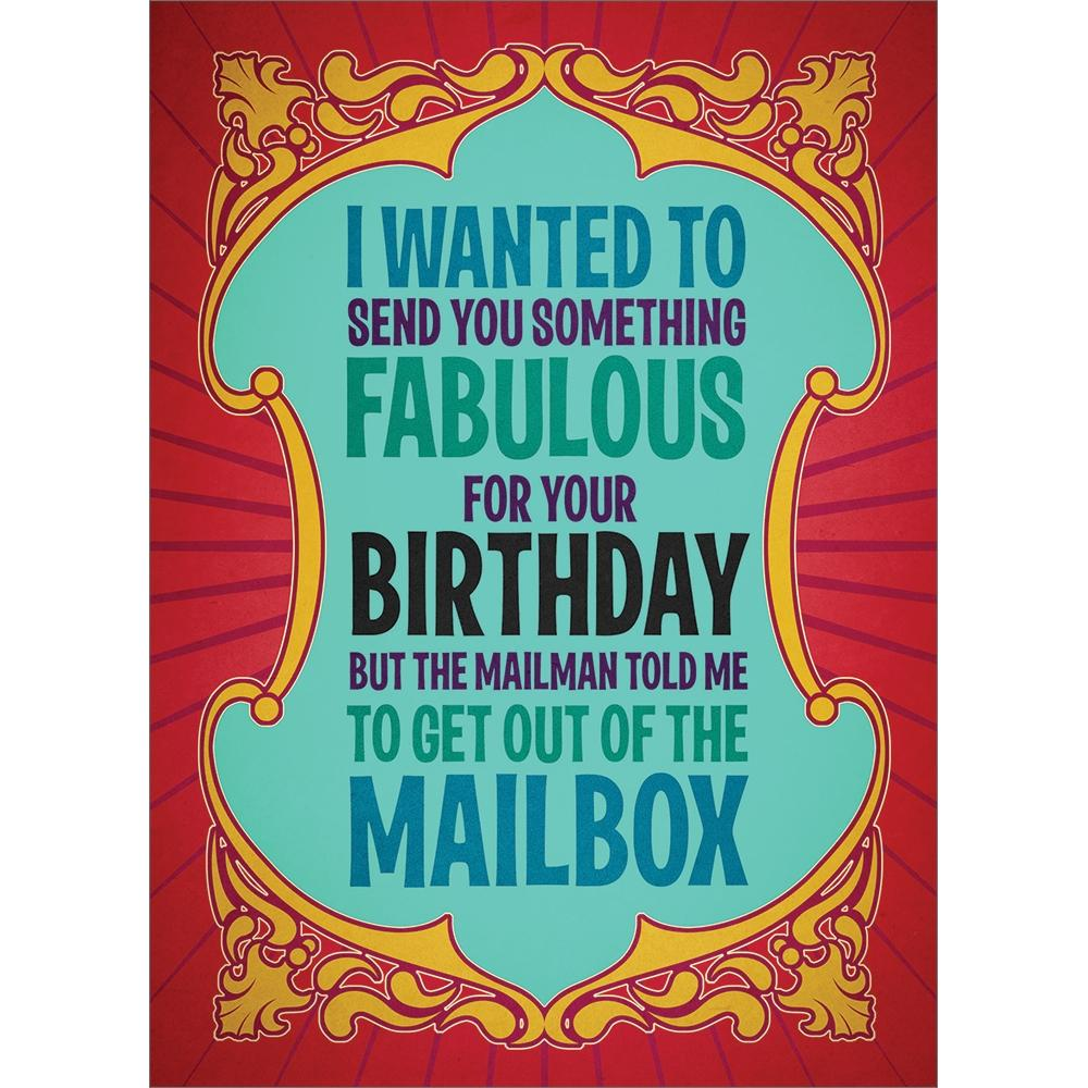 Fabulous Package Birthday Greeting Card 6 pack