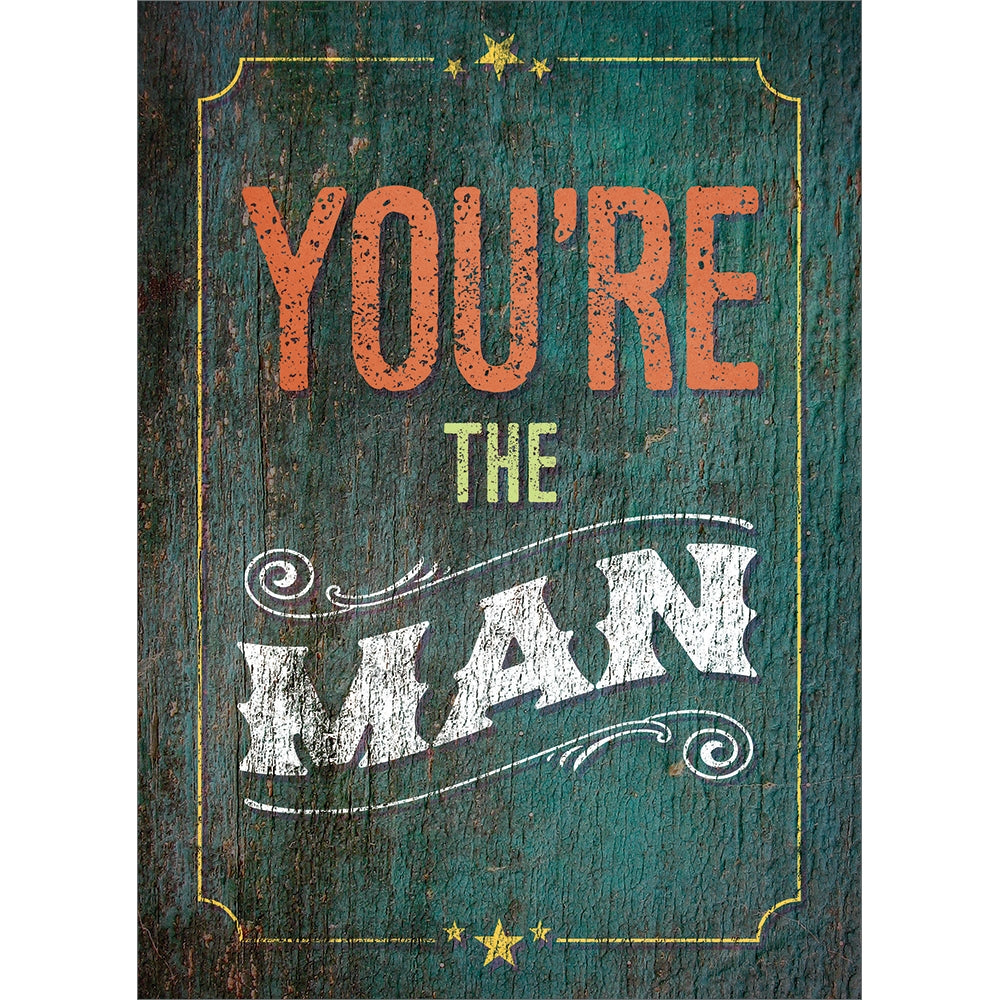 You're The Man All Occasion Greeting Card 6 pack