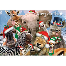 Load image into Gallery viewer, Wild And Wonderful Christmas Christmas Greeting Card 4 pack