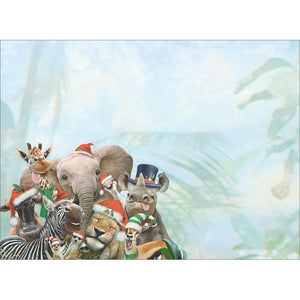 Wild And Wonderful Christmas Christmas Greeting Card 4 pack