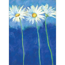 Load image into Gallery viewer, Daisies On Blue All Occasion Greeting Card 6 pack