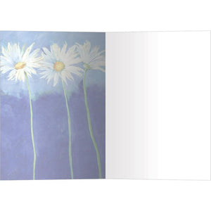 Daisies On Blue All Occasion Greeting Card 6 pack