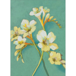 Sweet Irises On Teal All Occasion Greeting Card 6 pack