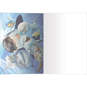 Ocean Selfie All Occasion Greeting Card 6 pack