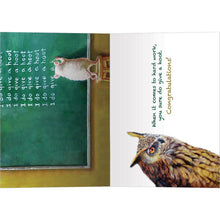Load image into Gallery viewer, Give A Hoot Graduation Greeting Card 4 pack