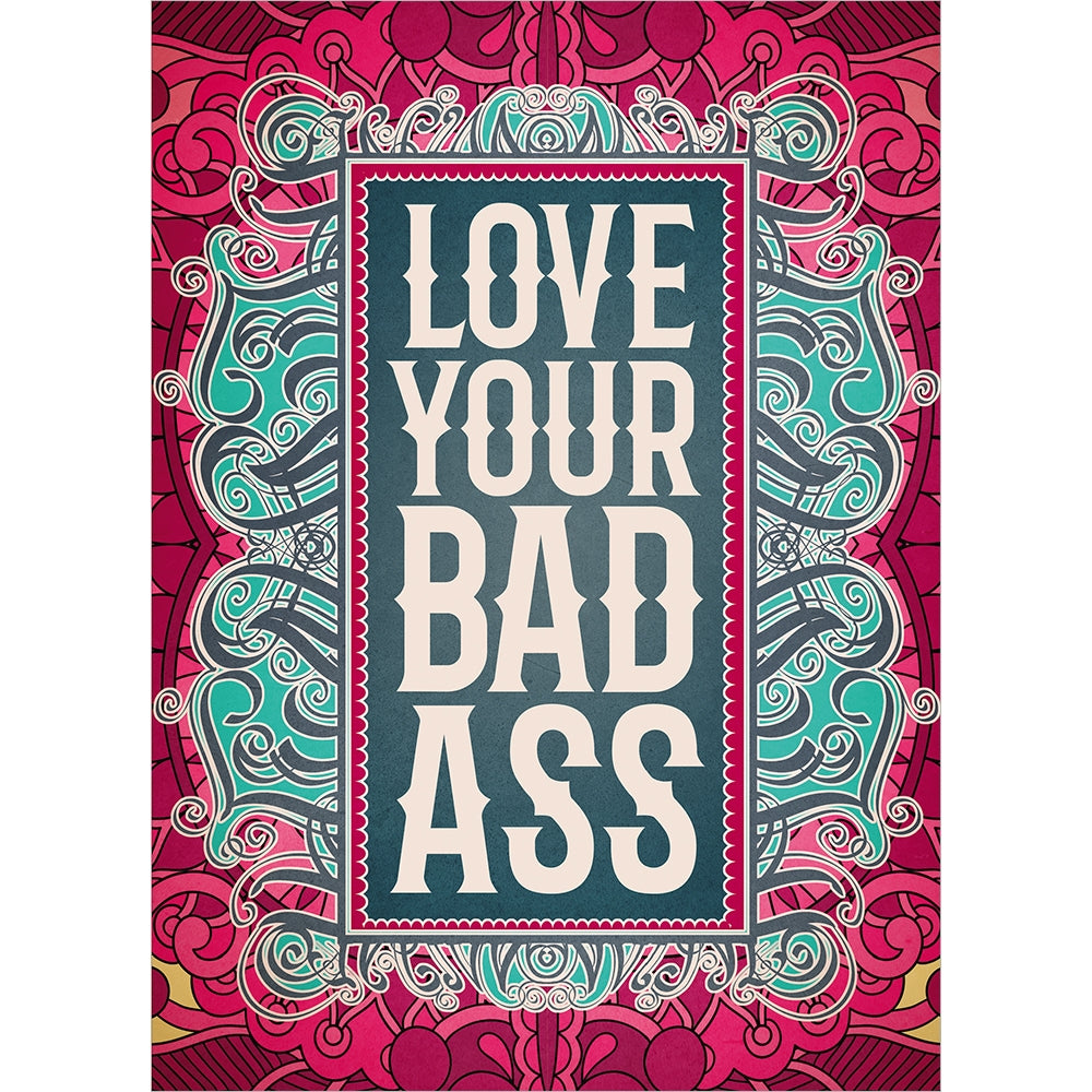 Doubly Badass All Occasion Greeting Card 6 pack