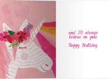 Load image into Gallery viewer, You Are My Unicorn Birthday Greeting Card 6 pack
