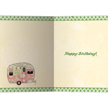 Load image into Gallery viewer, Hippie Camper Birthday Greeting Card 6 pack