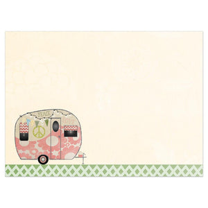Hippie Camper Birthday Greeting Card 6 pack