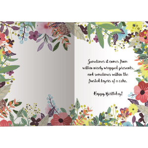Happiness From Within Birthday Greeting Card 6 pack