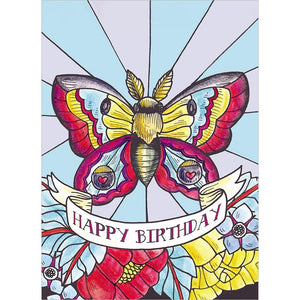 Flutter By Birthday Greeting Card 6 pack